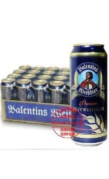 德国原装进口 瓦伦丁小麦黑啤酒 500ml×24听装