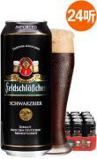 德国进口费尔德城堡纯麦黑啤酒500ML*24听