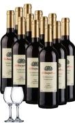 欧娜干红葡萄酒(FSA)整箱12支加两支拉伸红酒杯
