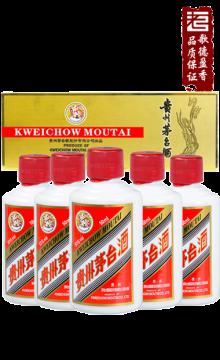 飞天茅台金色条盒装2017年53度50ml*5/盒