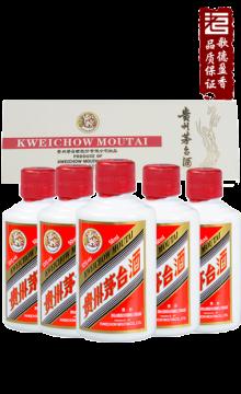飞天茅台白色条盒装2017年53度50ml*5/盒