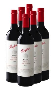 奔富麦克斯西拉干红葡萄酒 6支装