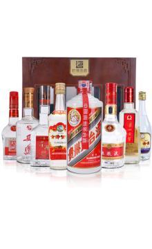 陈年老酒 2002年-2010年 八大名酒套装(高度)配木盒