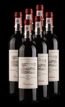 尚品波爾多法定產區紅葡萄酒(拉菲羅斯柴爾德集團榮譽出品)  6支整箱裝  750ml*6