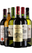 法国波尔多红酒 法国干红干白葡萄酒组合六只装
